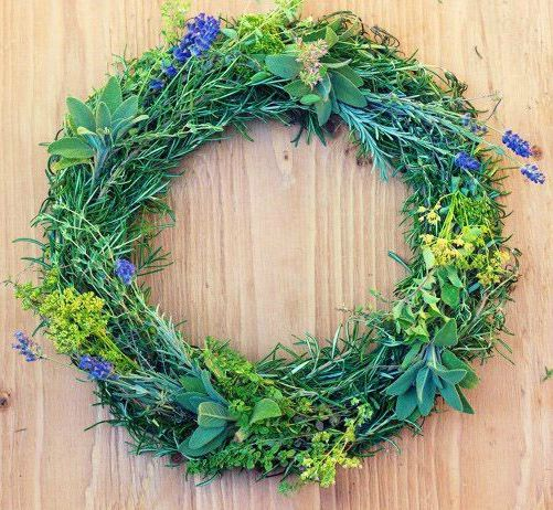 herb wreath, garden therapy