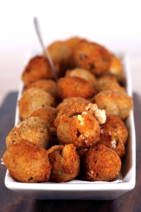 Fried Blue Cheese Stuffed Olives - Deb's Kitchen