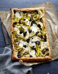 Leek, Goat Cheese & Olive Tart-Bill Granger