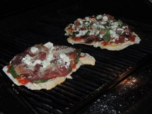Pizza on the grill 1