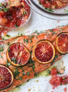 salmon blood orange