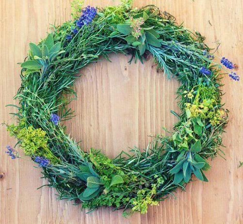 herb wreath, garden therapy